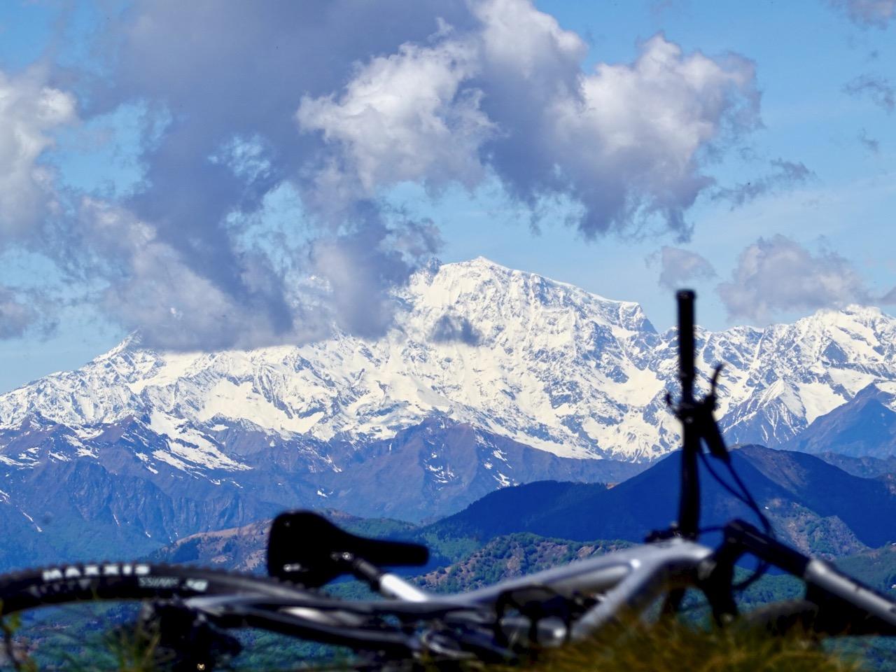 Monte Rosa Blick aus dem Trail