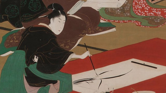 Detail of a man painting from The Four Accomplishments, F1903.57
