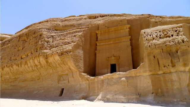 photo of the Tombs at Mada'in Saleh.