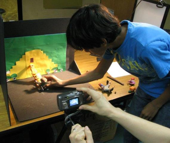 Making claymation at ImaginAsia