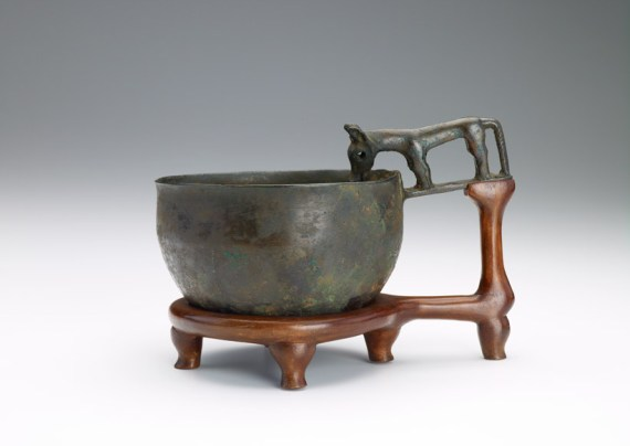 Bowl, possibly Han dynasty, bronze, F1946.18a-b