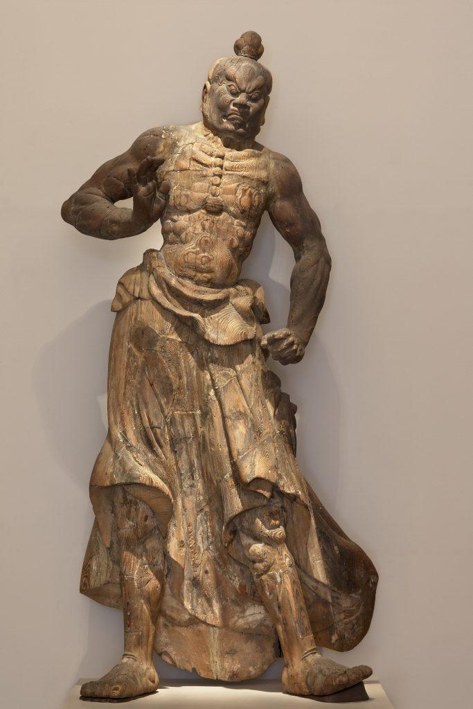 Guardian figure; Japan, Kamakura period (1185–1333); wood; Purchase, Freer Gallery of Art; F1949.21