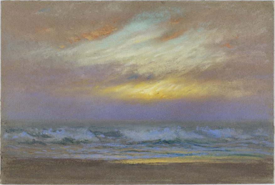 Sunrise; Dwight William Tryon (1849–1925); United States, 1915; pastel on cardboard; Gift of Charles Lang Freer; F1915.129a–b