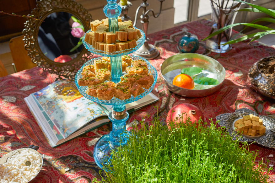 A Haft sin table at the Freer|Sackler's annual Nowruz celebration