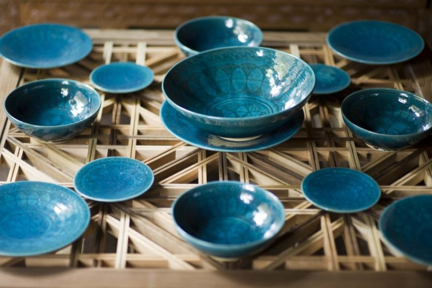 """See more of these blue-green bowls in """"Turquoise Mountain: Artists Transforming Afghanistan."""""""