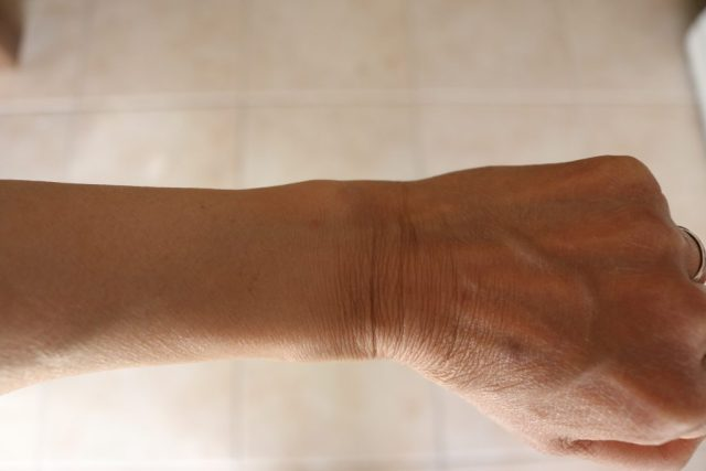 Close up of forearm to hand.