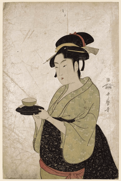 """detail from Utamaro print """"Naniwaya Okita"""""""