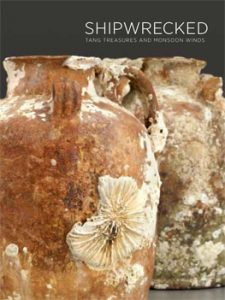 Shipwrecked exhibition catalog cover; cover image: clay pots with aquatic damage.