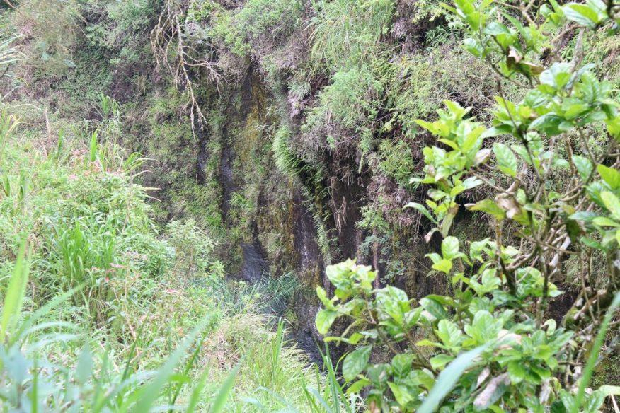 River far below in a ravine