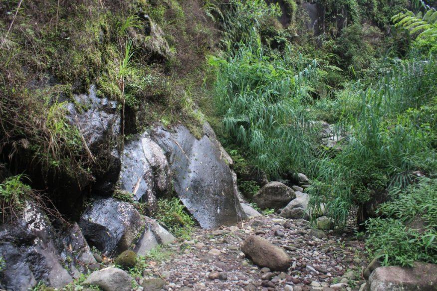 Sheered rock