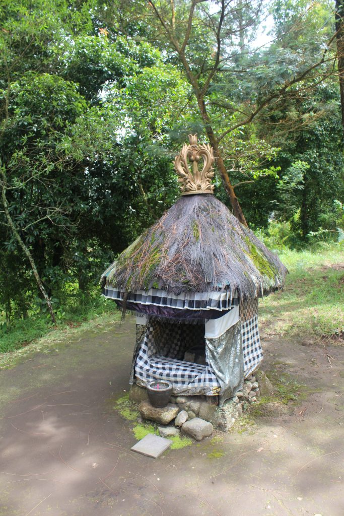 Small shrine with thatch roof