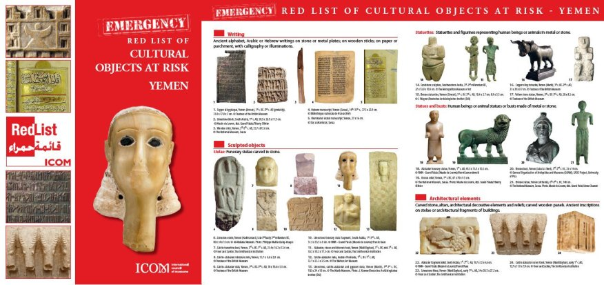 diagram of Red List cultural objects from Yemen