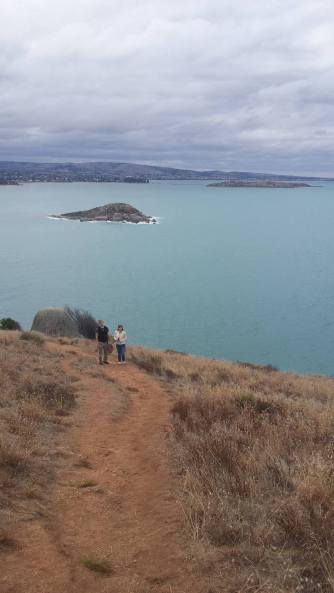 View from the Bluff across Granite Island and Victor Harbor