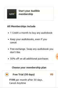 Amazon Audible Plan
