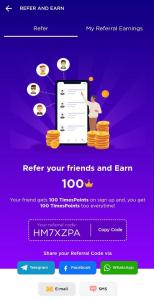 Timespoints Refer and Earn 06