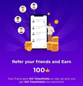 TimesPoints Refer and Earn offer