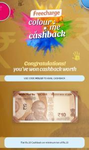 FreeCharge Colour me cashback proof