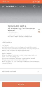 FreeCharge Rs.1 Deal