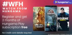 Hungama Play 2 Month Premium Subscription For Free