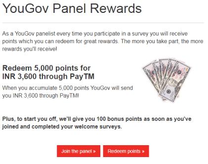YouGov Survey Free PayTM Cash 08