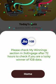 Jio Tata Slat IQL Quiz Prize