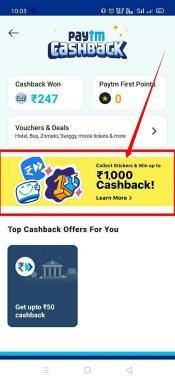 PayTM Stickers Cashback Offer 02