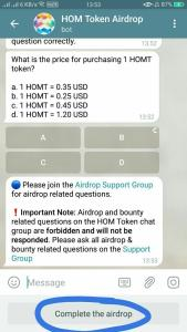 HOM Airdrop Refer and Earn 14