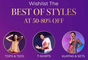 Wishlist the Best of Styles for Myntra End of Reason Sale