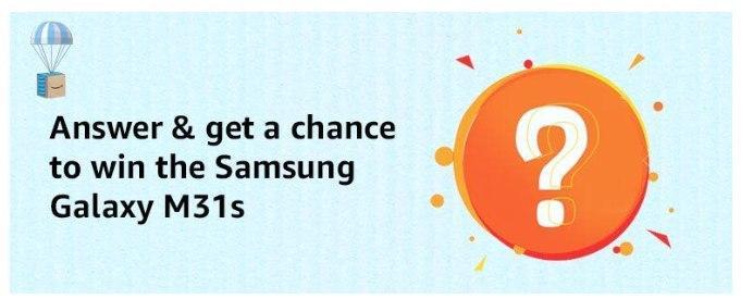Amazon Samsung M31s Quiz Answers Win Samsung M31s