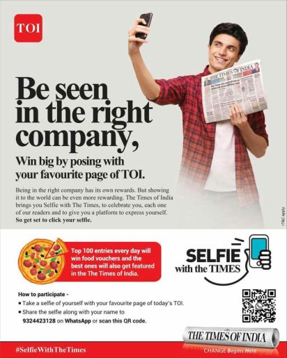 Times of India Selfie with the Times 01
