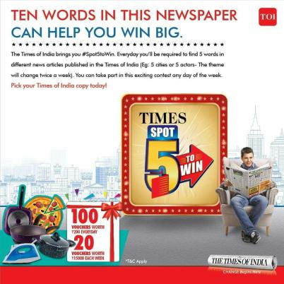 The Times of India Spot 5 Contest