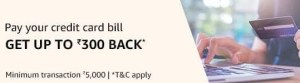 Amazon Credit Card Bill Pay Offer