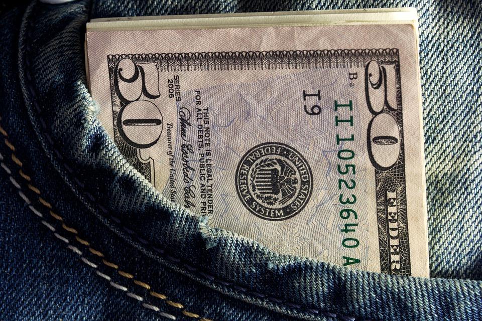 Dinheiro, Dólares, Bolso, Banco, Renda, Salário, Notas