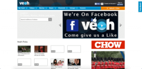 veoh free streaming movies tv