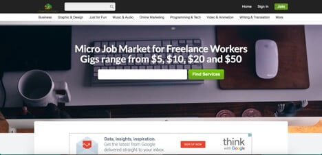Damongo sites like Freelancer