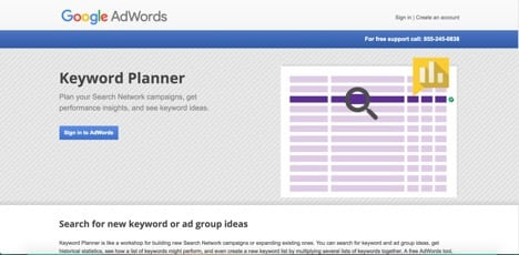 Google keyword planner moz alternatives