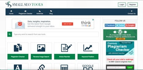 Small SEO tools sites like moz