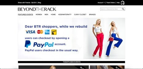 Beyond the Rack Sites like Zulily