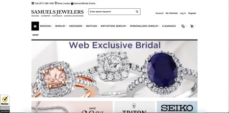 sites like samuel jewelers