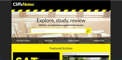 sites like cliffsnotes