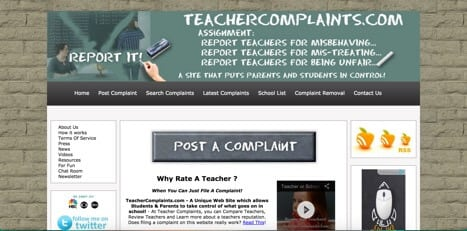 teacher complaint sites