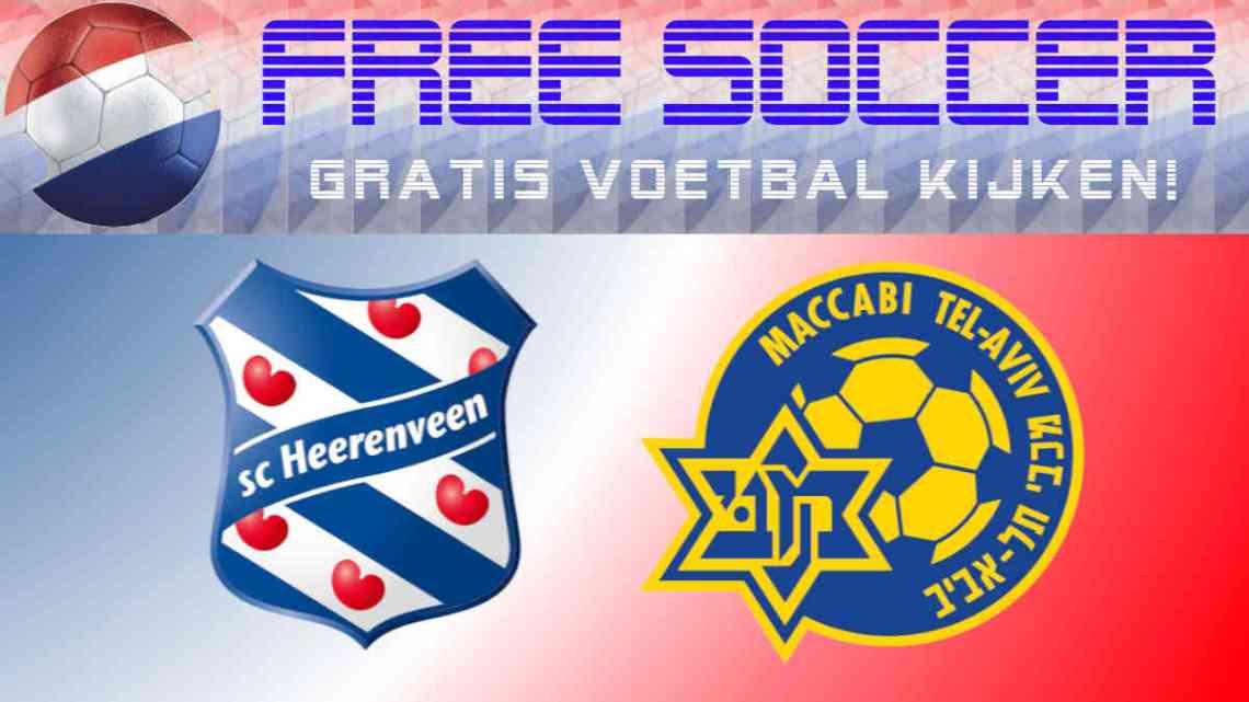 Livestream SC Heerenveen - Maccabi Tel Aviv