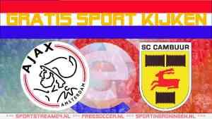 Live Ajax - SC Cambuur