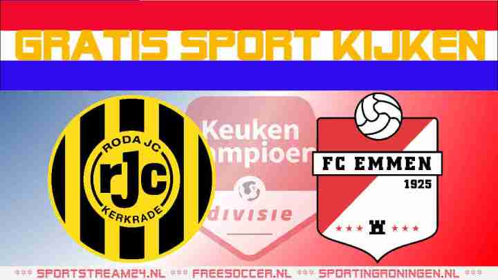 Live Roda JC vs FC Emmen