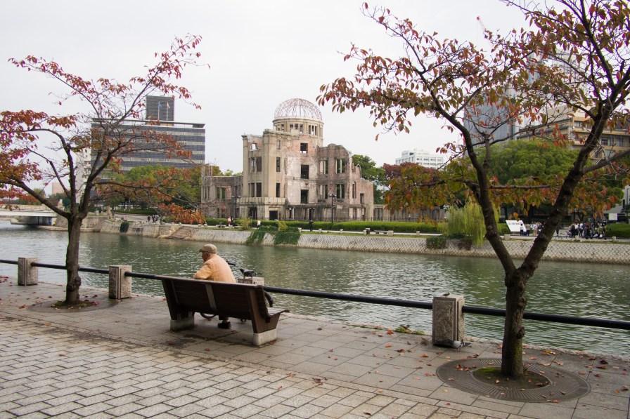 Hiroshima Dome by Honkawa river