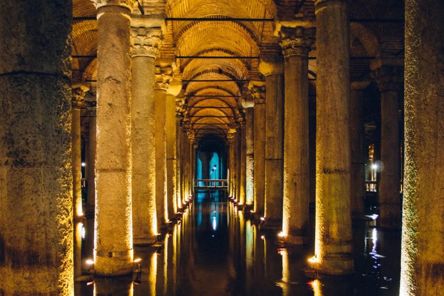Basilica Cistern Underground Columns