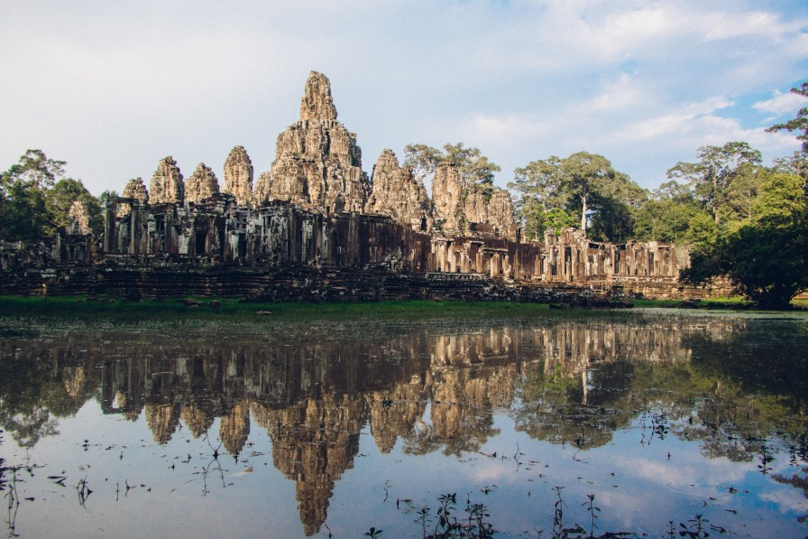 Water Reflection of Bayon Temple