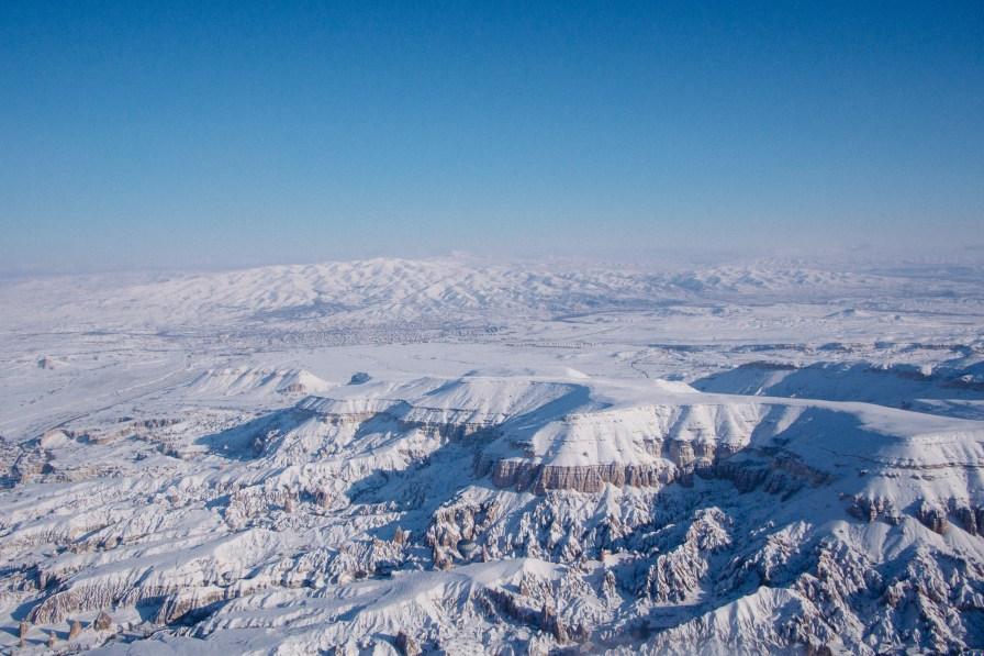 View of Cappadocia Region from the Sky