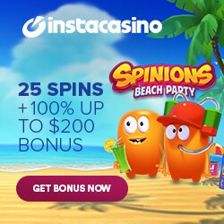 Insta Casino   100 free spins and 250% up to £1000 bonus   review