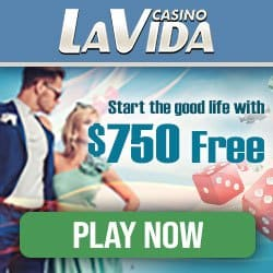 La Vida Casino | 250% up to €750 bonus and free spins | review